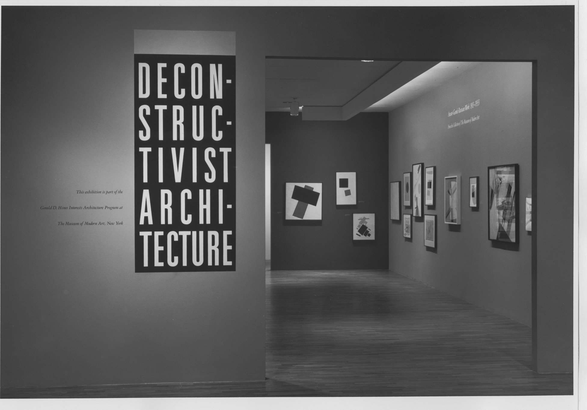 Photography Exhibition Ad Classics 1988 Deconstructivist Exhibition At New York