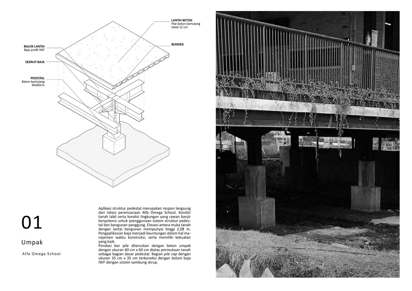 Detail Kolom Baja Gallery Of School Of Alfa Omega Raw Architecture 76