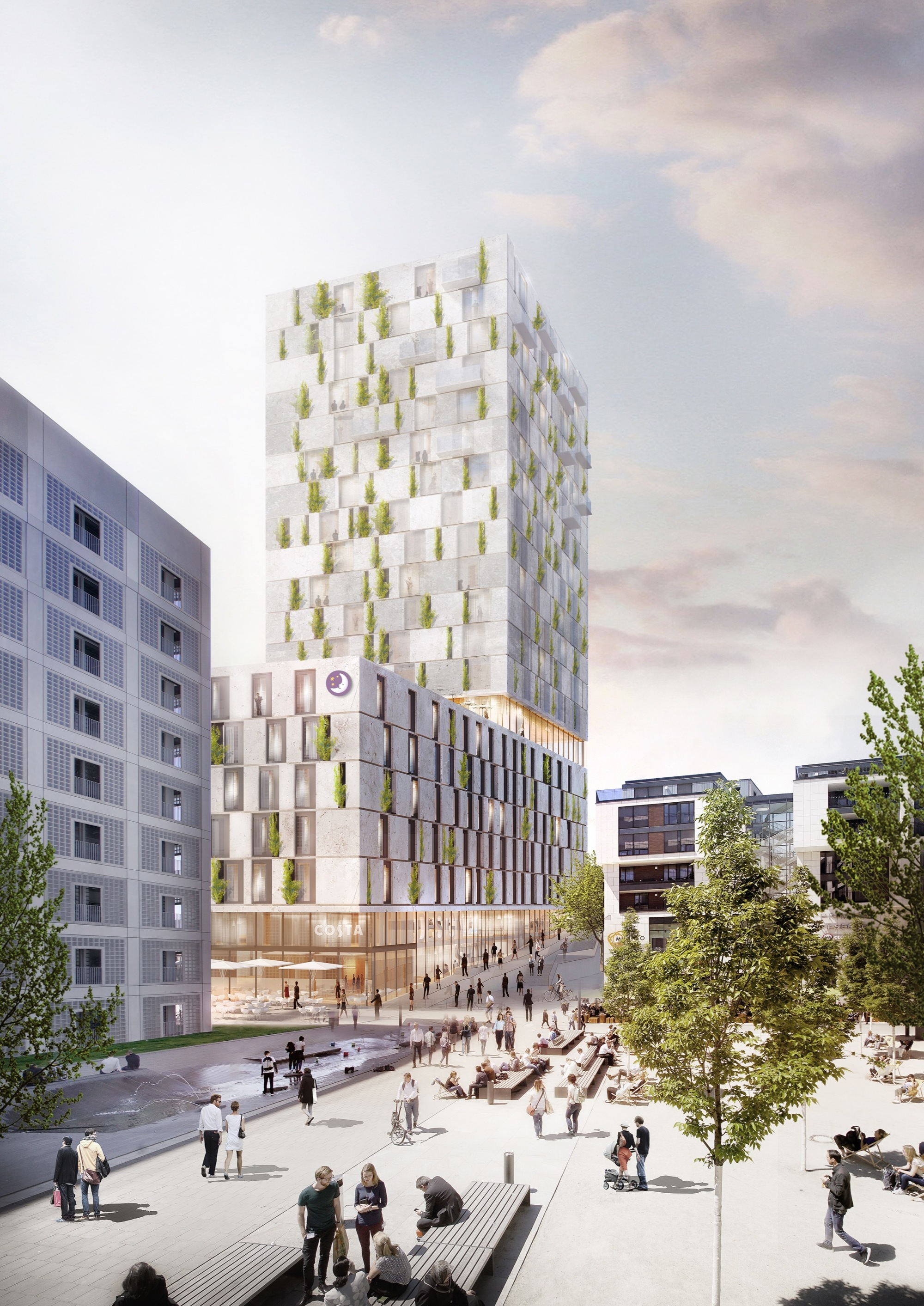 Architektur Rendering Rkw Architektur + Wins Competition For Stone-clad Mixed-use Building In Stuttgart | Archdaily