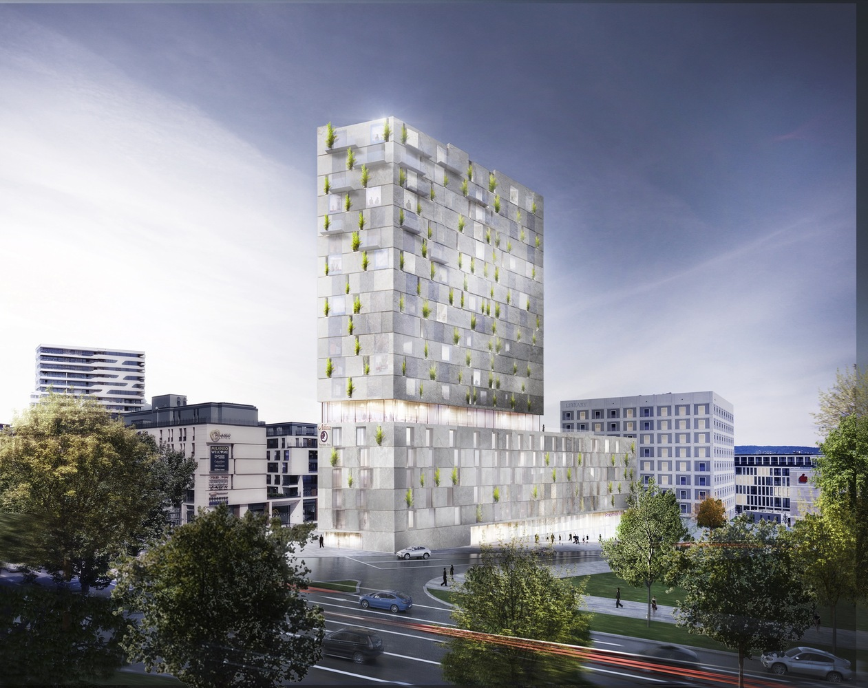 Architektur Rendering Gallery Of Rkw Architektur + Wins Competition For Stone-clad Mixed-use Building In Stuttgart - 1