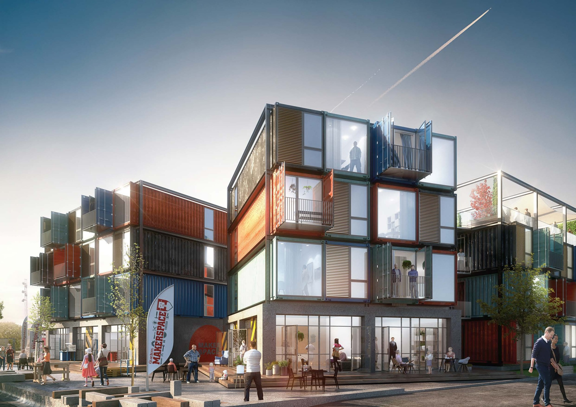 Architectural Design Of Residential Building Arkitema Architects Designs 30 Shipping Container Apartments In