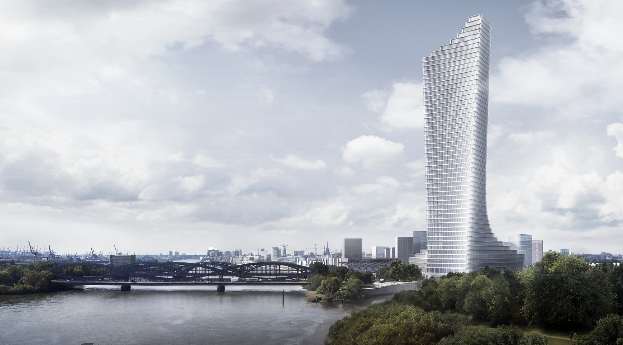 Tower Hamburg David Chipperfield Architects Selected To Design Tallest