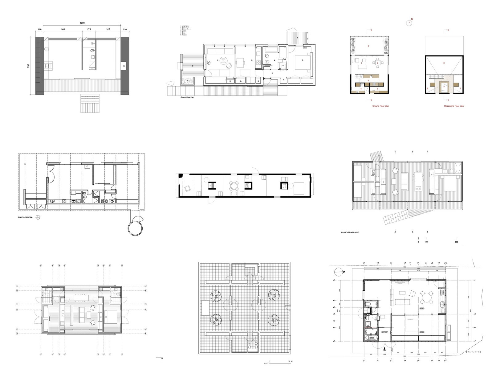 House Plan Drawing House Plans Under 100 Square Meters 30 Useful Examples Archdaily