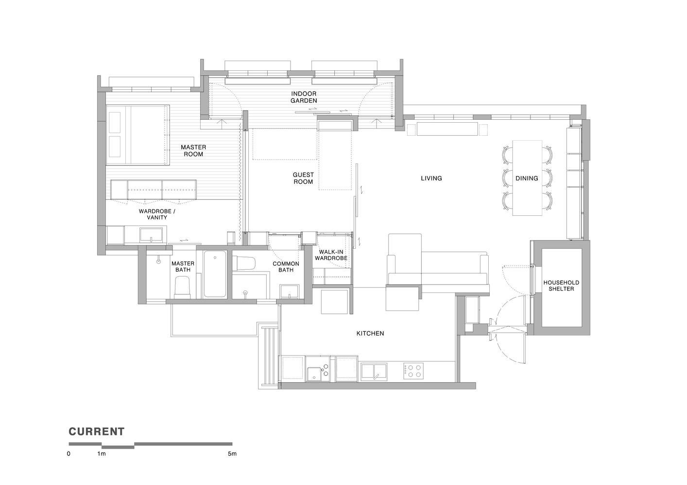 Flat Plan Gallery Of House In A Flat Nitton Architects 12