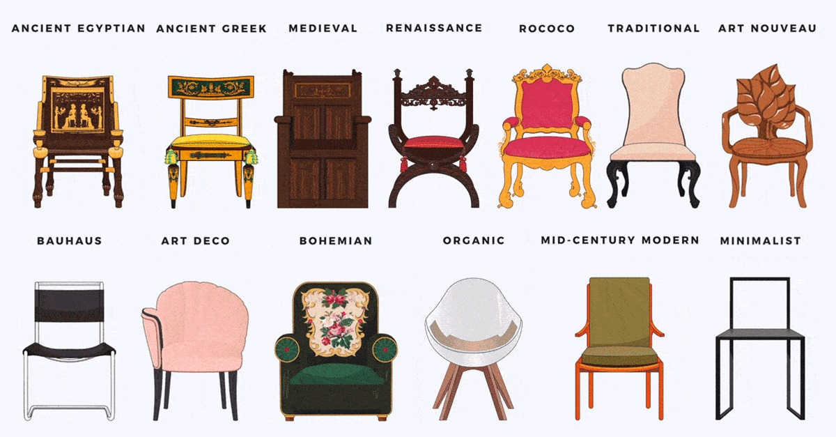 Silla Rococo See How The Design Of Chairs, Beds And Sofas Have Evolved