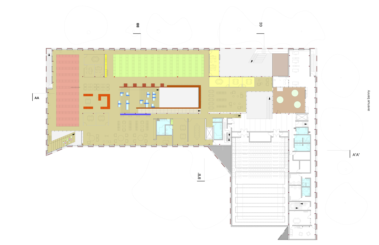 Atelier 50 Gallery Of Cultural Centers 50 Examples In Plan And Section 140