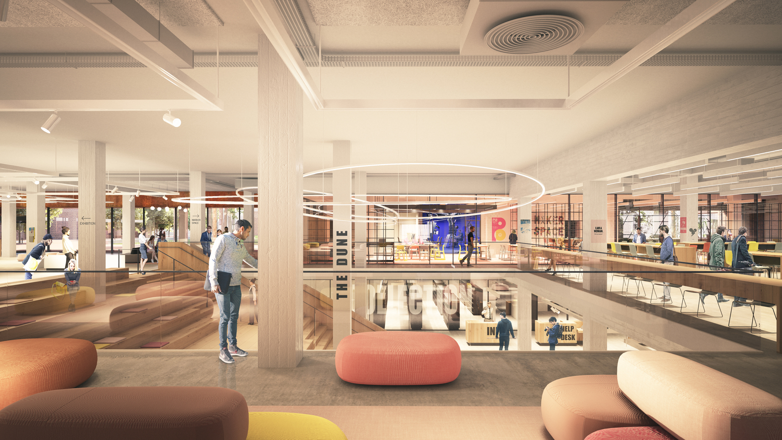 Library Furniture Australia Gallery Of Schmidt Hammer Lassen To Transform Curtin University