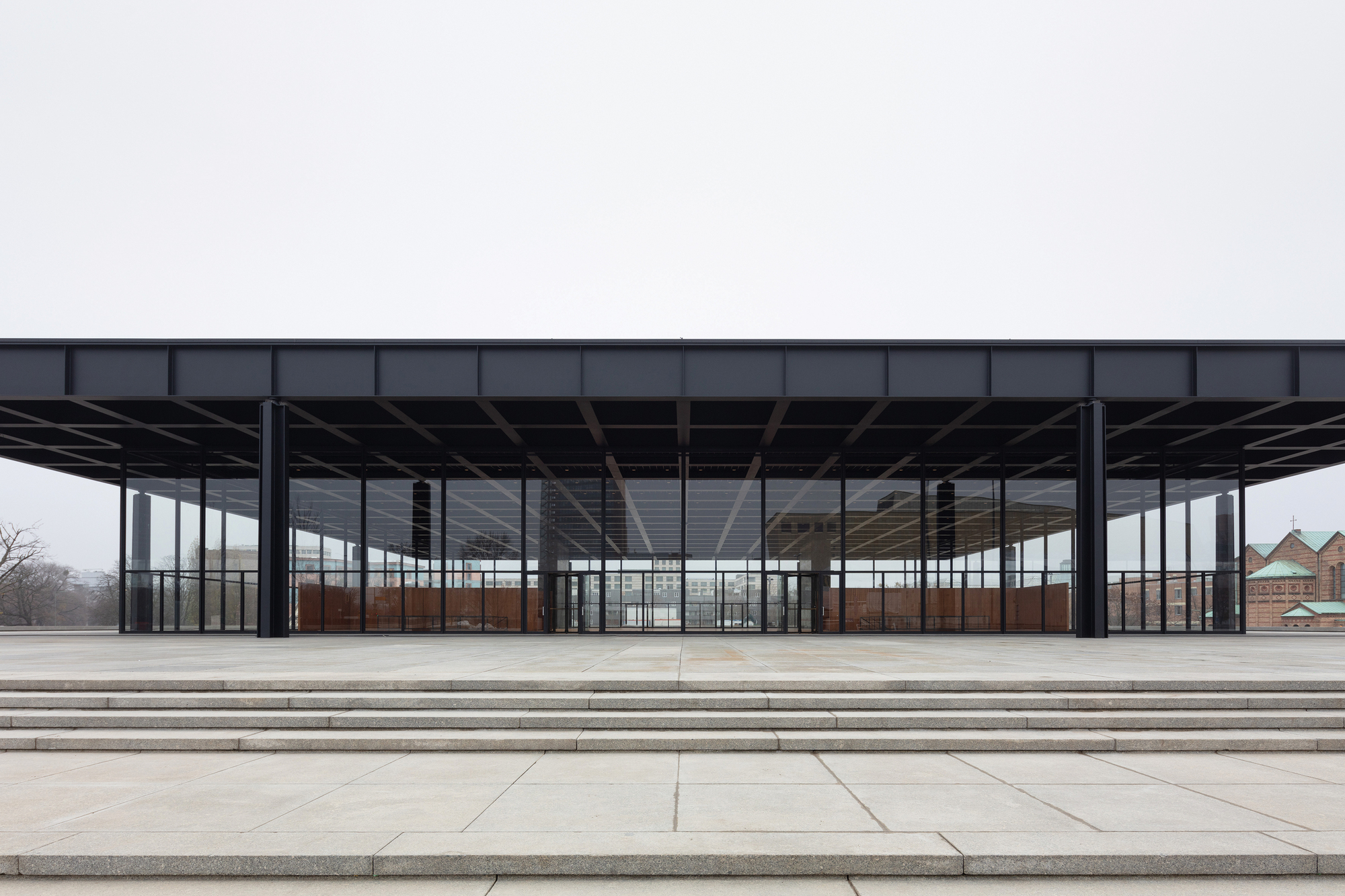 Mies Van Der Rohe Berlin Images Reveal Mies Van Der Rohe's Renovated New National Gallery In Berlin By David Chipperfield | Archdaily