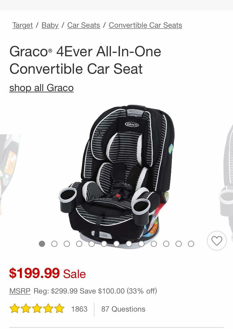 Baby Car Seats At Target Graco 4ever Car Seat On Sale October 2018 Babies Forums
