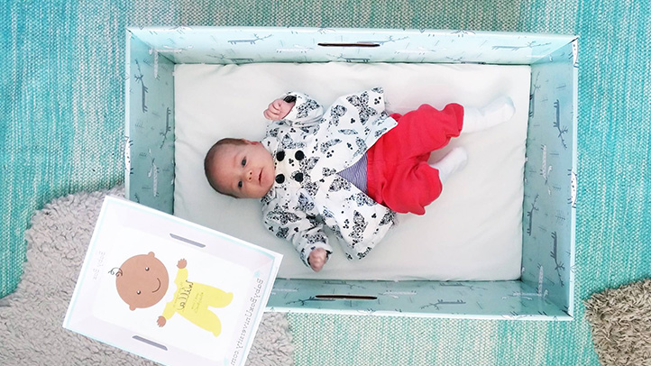 Newborn Infant And Breastfeeding U S Moms Get 39;baby Boxes 39; To Keep Newborns Safe While