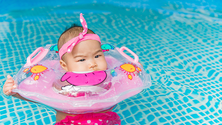 Newborn Baby Activity Toys Why You Should Skip The Viral Baby Neck Pool Floaties Trend