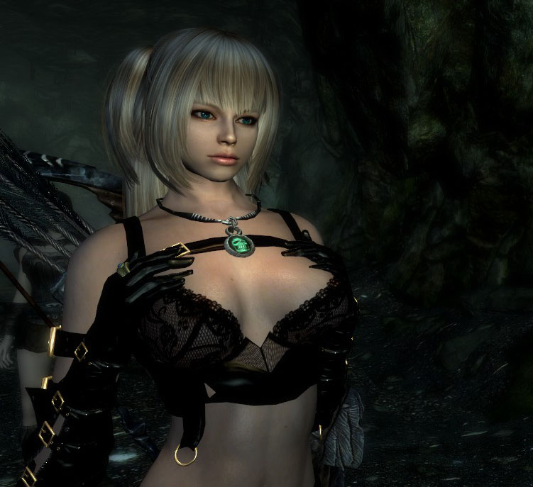 Anime Wallpaper Girl Busty Black Hair Pale Skin Tut How To Create Cute Character On Skyrim Tutorial