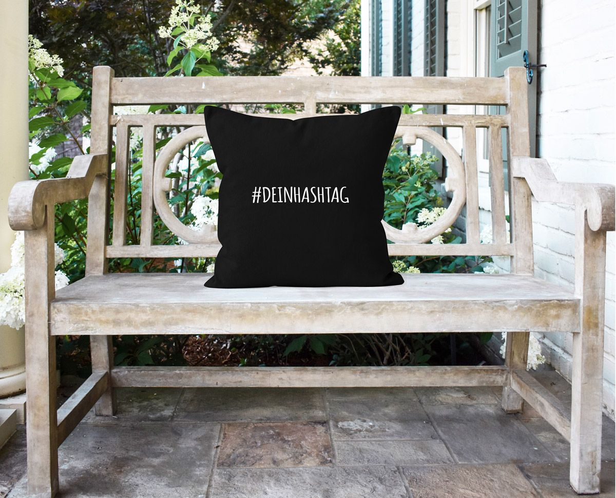 Cushion Cover Dein Hashtag Won Printing With Own Text Ebay