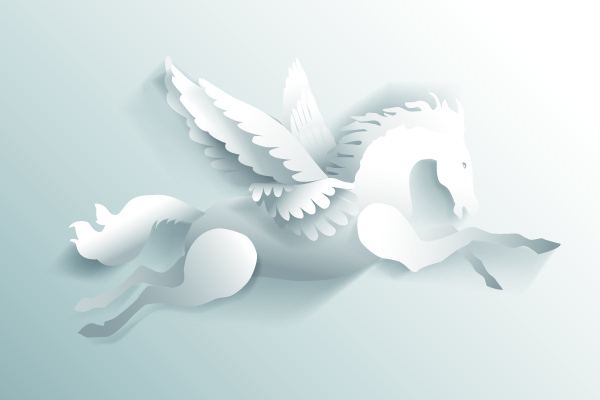 3d white paper cut horse vector Free vector in Encapsulated