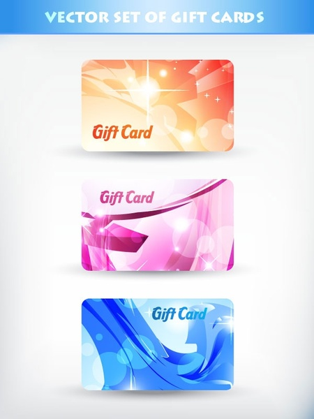 Gift card template colorful balloons ribbon box ornament Free vector - gift card templates free