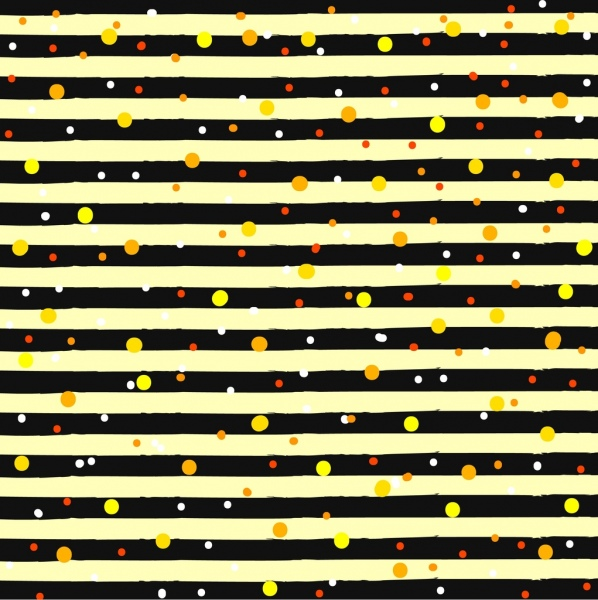 Abstract background yellow dots horizontal stripes decor Free vector