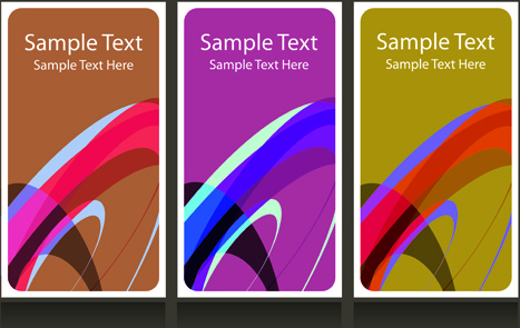Abstract backgrounds for business cards design vector Free vector in