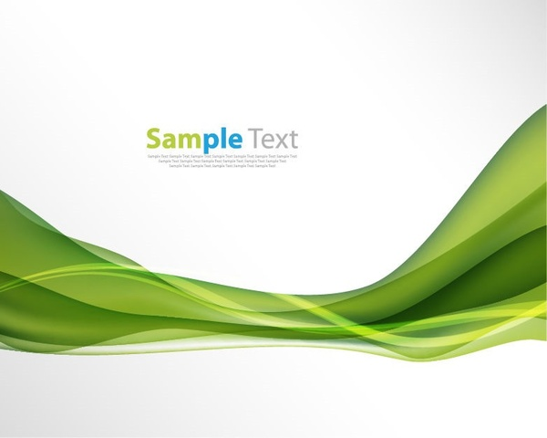 Abstract green wave background vector illustration Free vector in