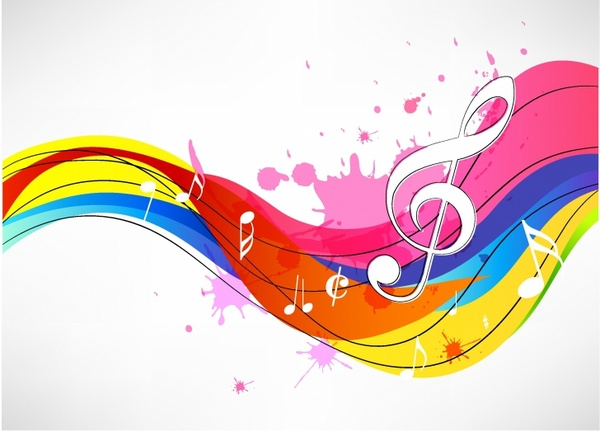 Abstract music background Free vector in Adobe Illustrator ai ( AI