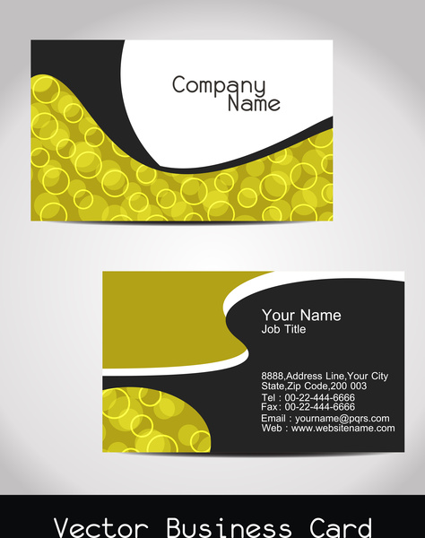 Abstract visiting card design Free vector in Encapsulated PostScript
