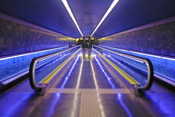 3d Moving Wallpapers City Lights Action Airport Blur Escalator Fast Highway Light Free