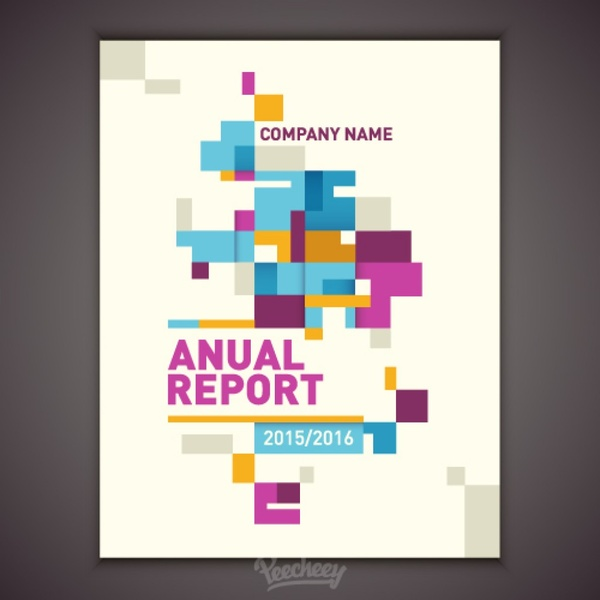 Annual report cover Free vector in Adobe Illustrator ai ( ai