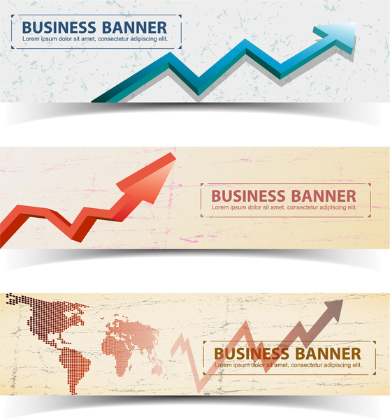 Arrow up chart graph banner Free vector in Adobe Illustrator ai
