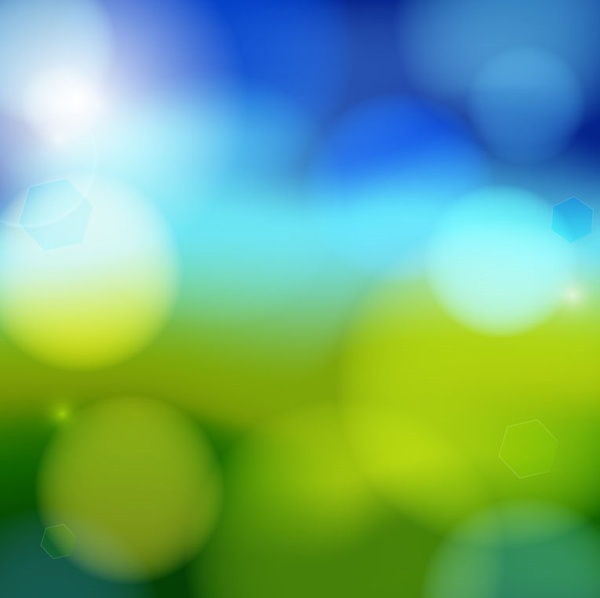Artistic blue bokeh vector background Free vector in Encapsulated