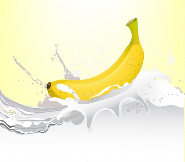 Simple Car Wallpapers Banana Milk Background 3d Bright Decoration Free Vector In
