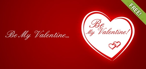 Be My Valentine Free Printable Greeting Cards Template Free psd in
