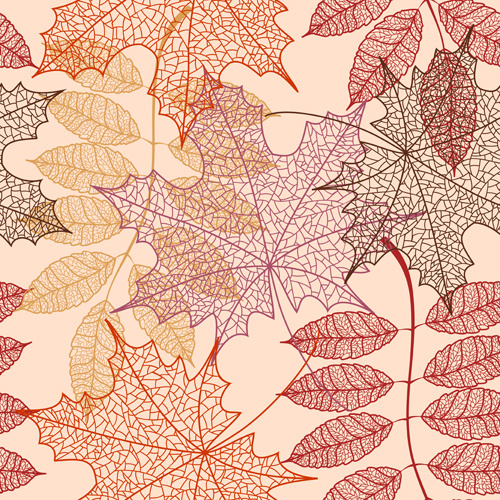 Fall Leaves Wallpaper Border Vector Pattern For Free Download About 10 336 Vector
