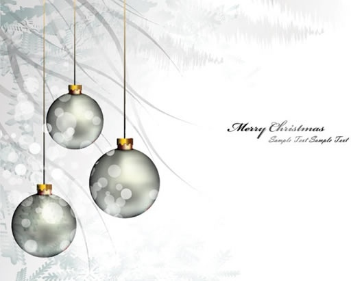 Vintage Black Wallpaper Beautiful Christmas Ornaments Background Vector