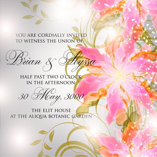 Flower birthday invitation template free vector download (22,780 - format for birthday invitation