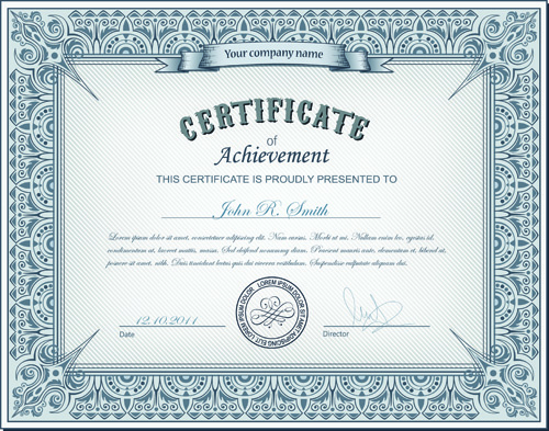 Best certificates design vector set Free vector in Encapsulated