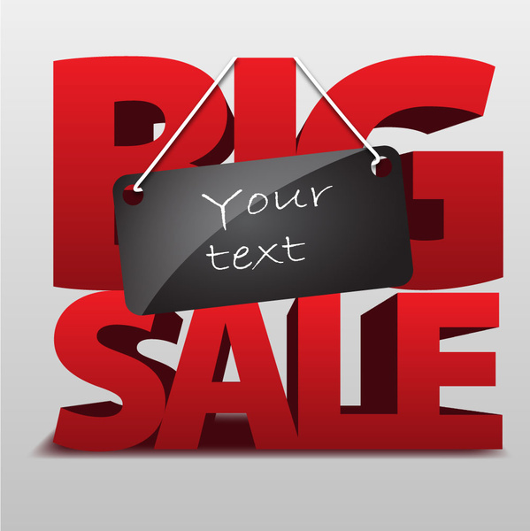 Big sale template Free vector in Adobe Illustrator ai ( ai ) vector - for sale template