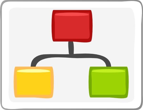 Block Diagram Visio Hierarchy clip art Free vector in Open office