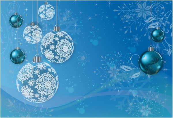 Blue Winter Holiday Background Free vector in Adobe Illustrator ai