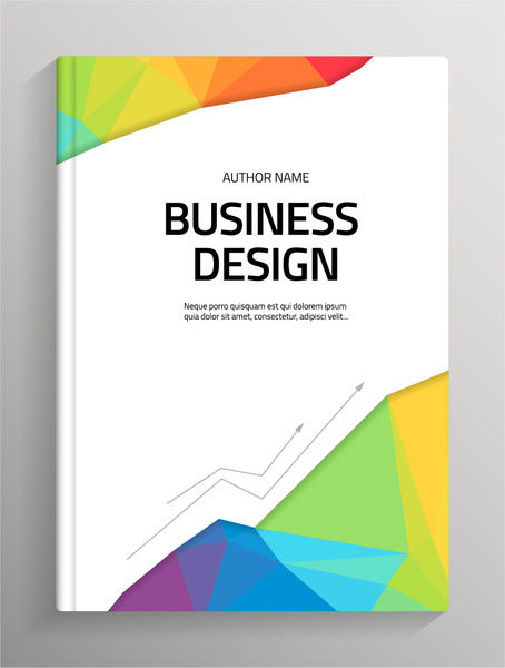 Brochure and book cover creative vector Free vector in Encapsulated