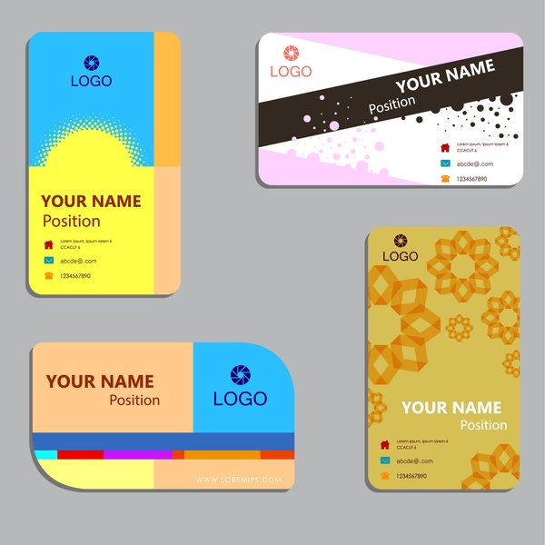 Business card sample set free vector download (37,284 Free vector - business card sample