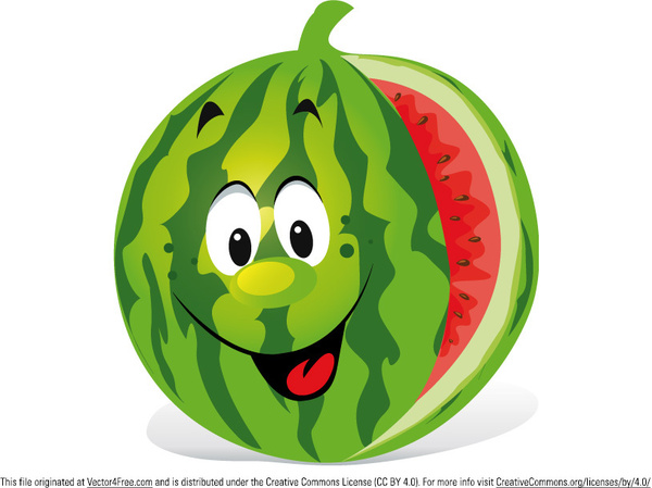 Cute Patterns For Wallpapers Cartoon Watermelon Free Vector In Adobe Illustrator Ai