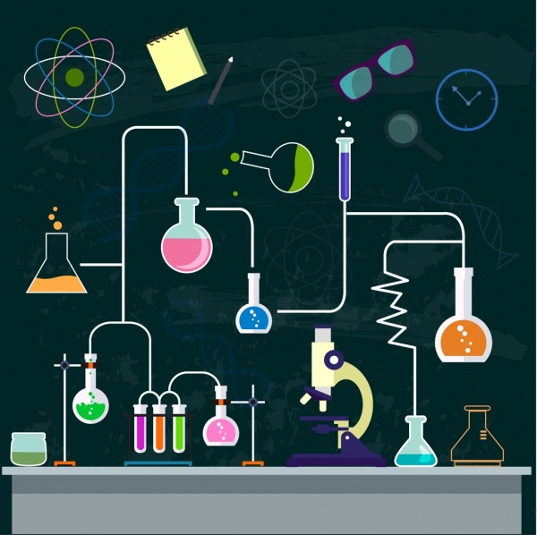 Animated Christmas Tree Wallpaper Chemistry Background Experiment Process Decor Lab Tool
