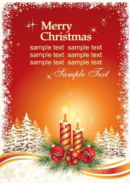 Christmas Card Vector Template Free vector in Encapsulated