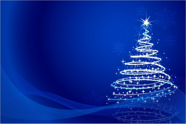 Christmas Tree Background Free vector in Adobe Illustrator ai ( AI