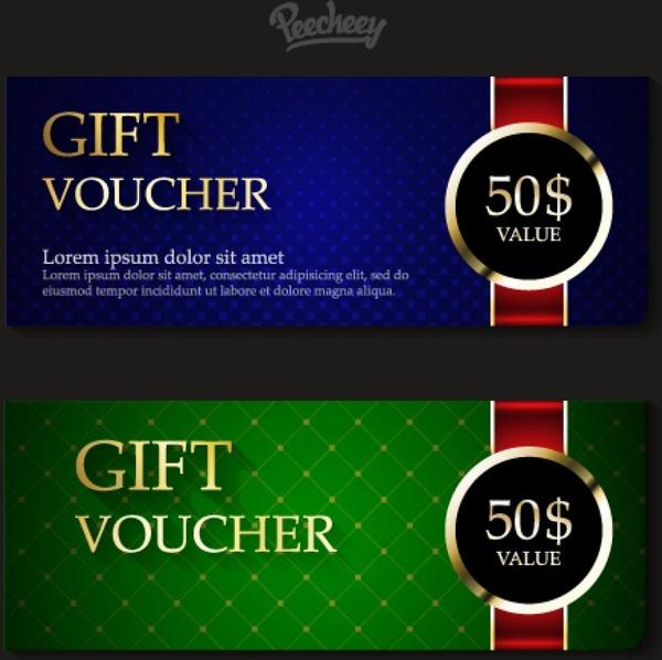 Classic gift vouchers Free vector in Adobe Illustrator ai ( ai