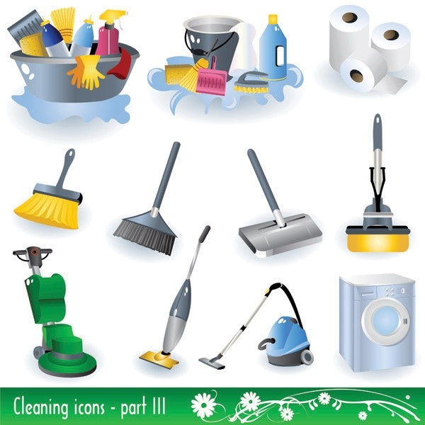 Cleaning supplies icon vector Free vector in Encapsulated PostScript