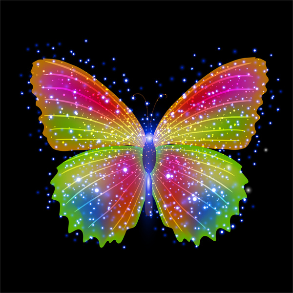 Cute Happy Girl Wallpapers Colorful Butterfly Background Vector Free Vector In Adobe