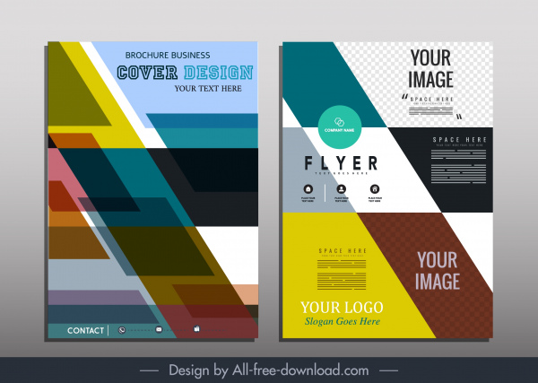 Corporate brochure template colorful abstract modern flat geometric