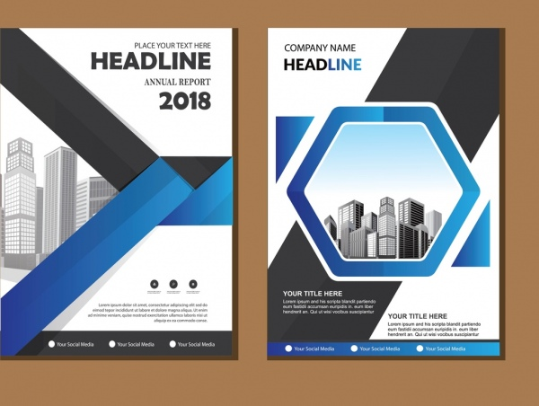 Cover brochure layout annual report poster flyer with geometric