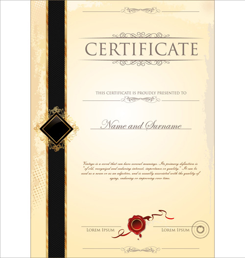 Certificate frame template free vector download (17,332 Free - certificate design format