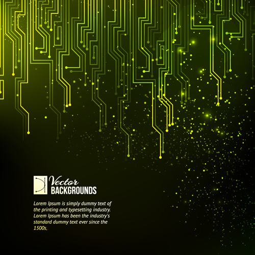 Creative circuit board concept background vector Free vector in - circuit design background